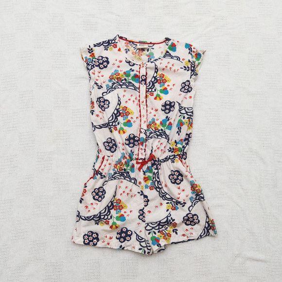 Mini Boden Other - Mini Boden 11-12 Years Cotton Floral Romper